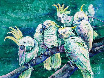 Cockatoo Painting - Cockatoos by Zaira Dzhaubaeva