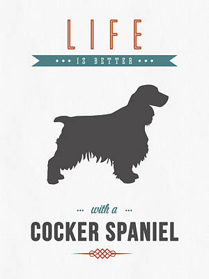Cocker Spaniel Mixed Media - Cocker Spaniel 01 by Aged Pixel