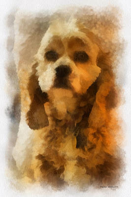 Woodcock Digital Art - Cocker Spaniel Photo Art 04 by Thomas Woolworth