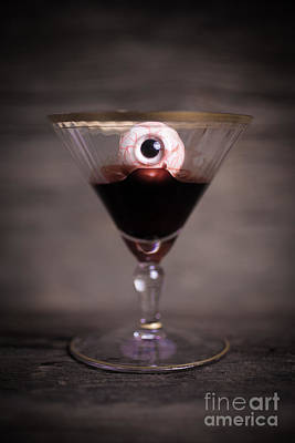 Creepy Photograph - Cocktail For Dracula by Edward Fielding