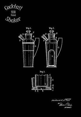 Cocktail Shaker 1930 Print by Mark Rogan