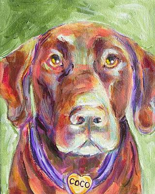 Chocolate Labrador Retriever Painting - Coco by Judy  Rogan