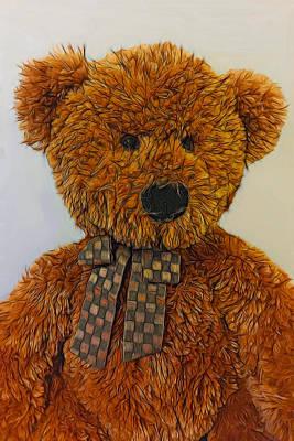 Teddy Bear Mixed Media - Coco by Steven Richardson