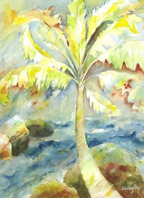 Coconut Palm Original by Kelly Perez