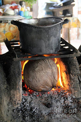 Coconut Stove Playa Paraiso Print by Linda Queally