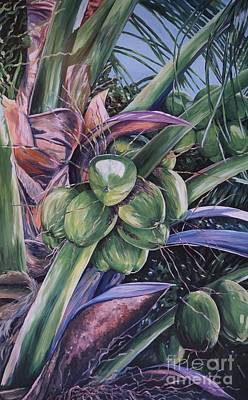 Coconuts   14x26 Print by John Clark