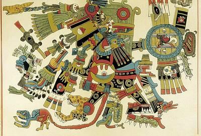 Precolumbian Photograph - Codex Borgia. Ritual And Divinatory by Everett