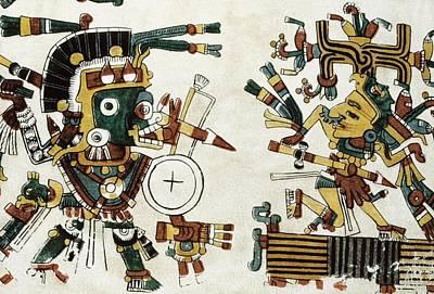 Precolumbian Photograph - Codex Cospi. Circa 15th C. Tlazolteotl by Everett