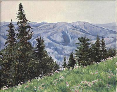 Wyoming Painting - Cody Mountain by Don  Langeneckert