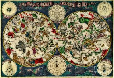 Coeletste Old World Map Print by Inspired Nature Photography Fine Art Photography