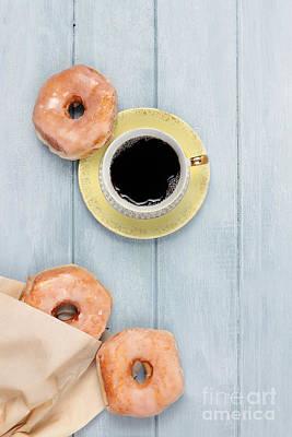 Coffee And Doughnuts Print by Stephanie Frey