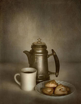 Coffee And Scones Print by David and Carol Kelly