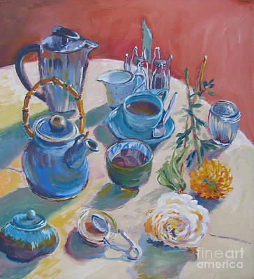 Coffee And Tea Print by Vanessa Hadady BFA MA