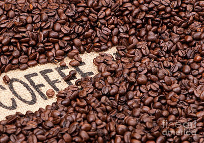 Coffee Beans Print by Rick Piper Photography