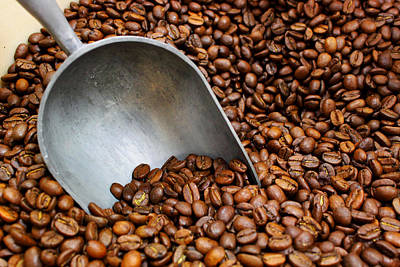 Coffee Photograph - Coffee Beans With Scoop by Jason Politte