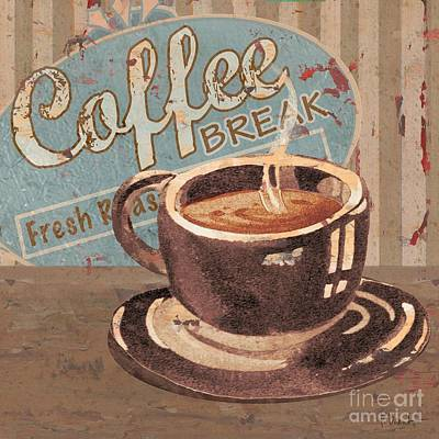 Painting - Coffee Brew Sign Iv by Paul Brent