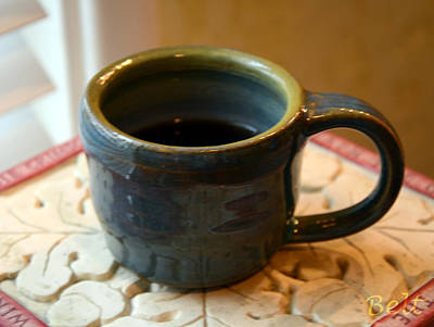 American Pottery Ceramic Art - Coffee Connoisseur No.5 by Christine Belt