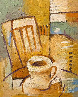 Corner Cafe Painting - Coffee Corner by Lutz Baar