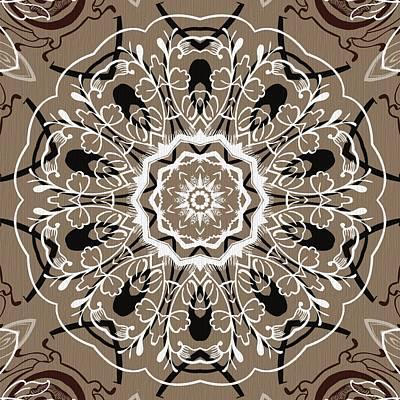 Rose Digital Art - Coffee Flowers 5 Ornate Medallion by Angelina Vick