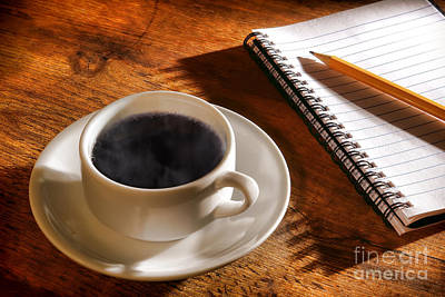 Coffee For The Writer Print by Olivier Le Queinec