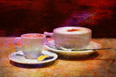 Outdoor Cafes Photograph - Coffee For Two by Laura Fasulo