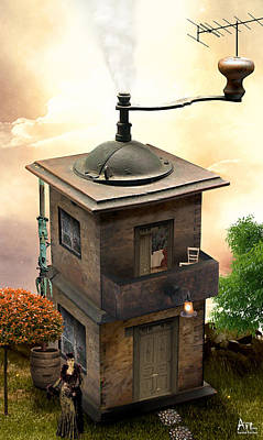 Harald Photograph - Coffee Grinder House by Harald Fischer