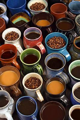 Coffeehouse Photograph - Coffee Mugs by Ron Sumners