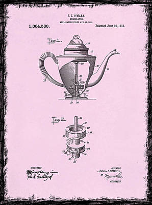 Coffee Grinders Photograph - Coffee Percolator Patent 1918 by Mark Rogan