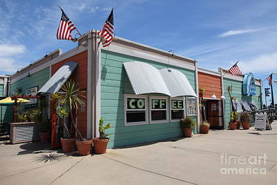 Coffee Shop At The Municipal Wharf At Santa Cruz Beach Boardwalk California 5d23833 Print by Wingsdomain Art and Photography
