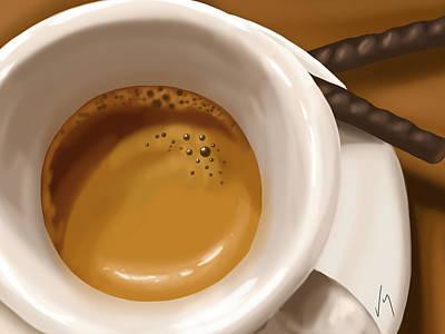 Digital Painting - Coffee by Veronica Minozzi