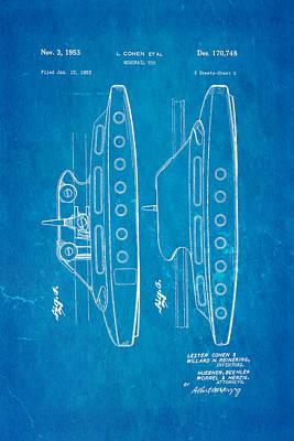 Cohen Monorail Toy 2 Patent Art 1953 Blueprint Print by Ian Monk