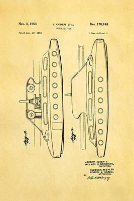 Cohen Monorail Toy 2 Patent Art 1953 Print by Ian Monk