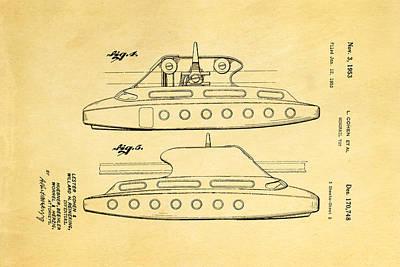 Cohen Monorail Toy 3 Patent Art 1953 Print by Ian Monk