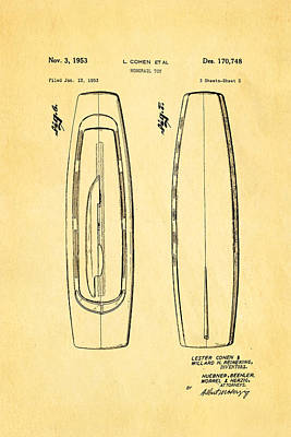 Cohen Monorail Toy Patent 4 Art 1953 Print by Ian Monk