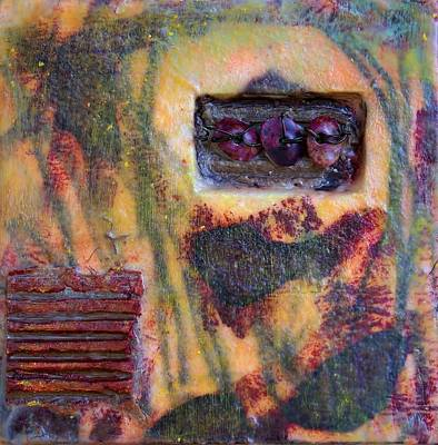 Cardboard Mixed Media - Coin Of The Realm Encaustic by Bellesouth Studio