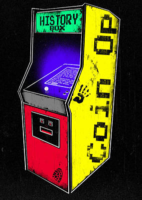 Pac Man Digital Art - Coin Op - History Box by Filippo B