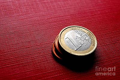 Coins Euro Print by Michal Bednarek