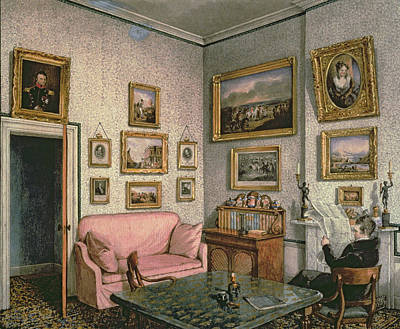 Gentleman Photograph - Col. Norcliffes Study At Langton Hall, C.1837 by Mary Ellen Best