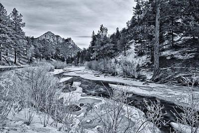 Colorado Christmas Photograph - Cold Colorado Creek by Darren  White