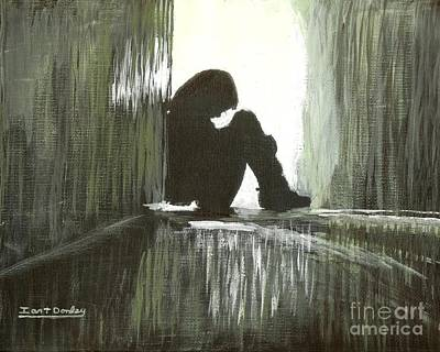 Sadness Painting - Cold Light Of Day by Ian Donley