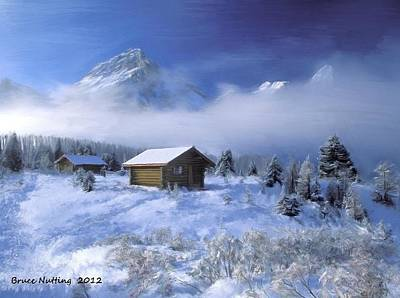 Snow Painting - Cold Out There by Bruce Nutting
