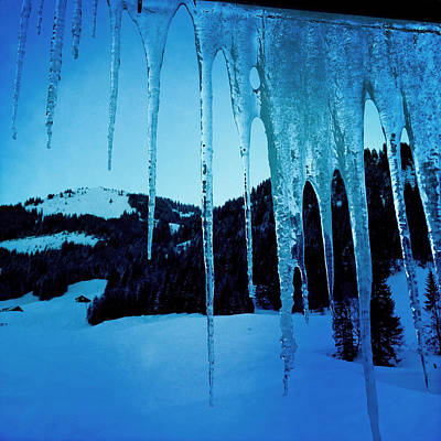 Mountain Photograph - Cold Outside - Icicles In Winter by Matthias Hauser