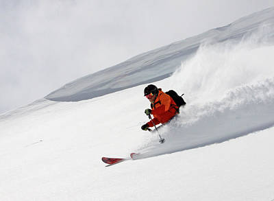 Skiing Action Photograph - Cold Smoke by Johnny Adolphson