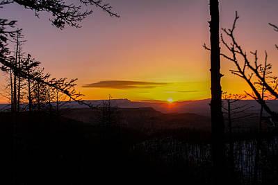 Path Photograph - Cold Utah Sunrise by Michael J Bauer