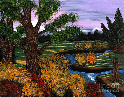 Babbling Brook Painting - Coldest Mountain Brook by Barbara Griffin