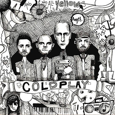 Coldplay Is All Yelow Print by Rachel Faye Elliott