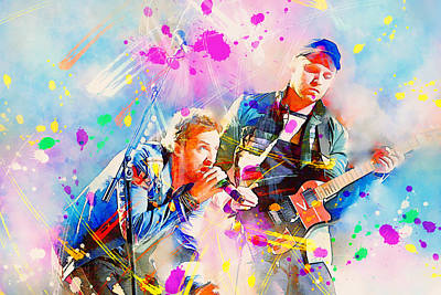 Splats Painting - Coldplay by Rosalina Atanasova