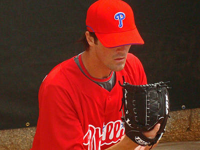 Cole Hamels Photograph - Cole by David Rucker