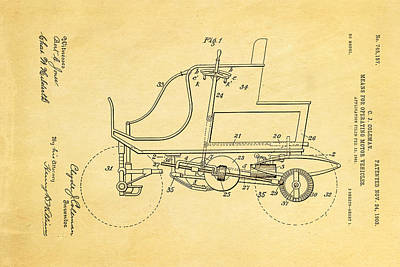 1903 Photograph - Coleman Motor Vehicle Patent Art 1903 by Ian Monk