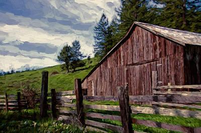 Coleman Valley Barn Print by John K Woodruff